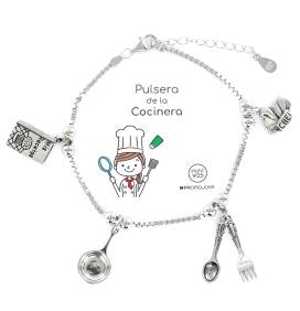 PULSERA DE LA COCINERA EN PLATA